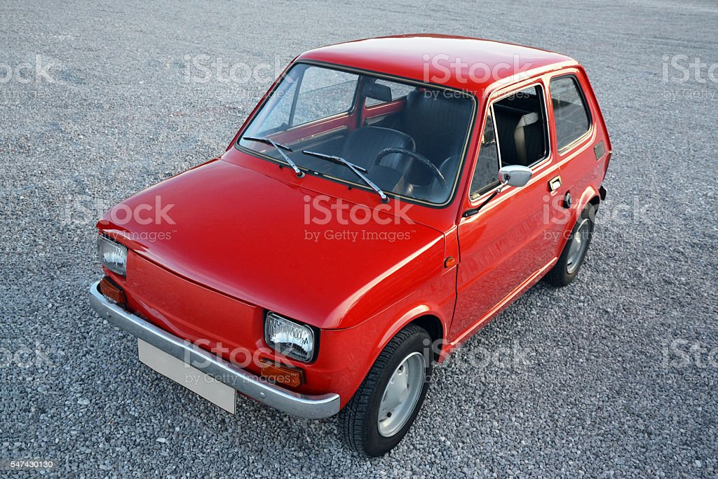 Classic small car from the top stock photo