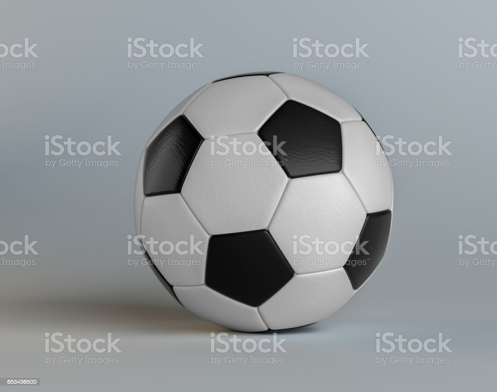 Classic soccer ball stock photo