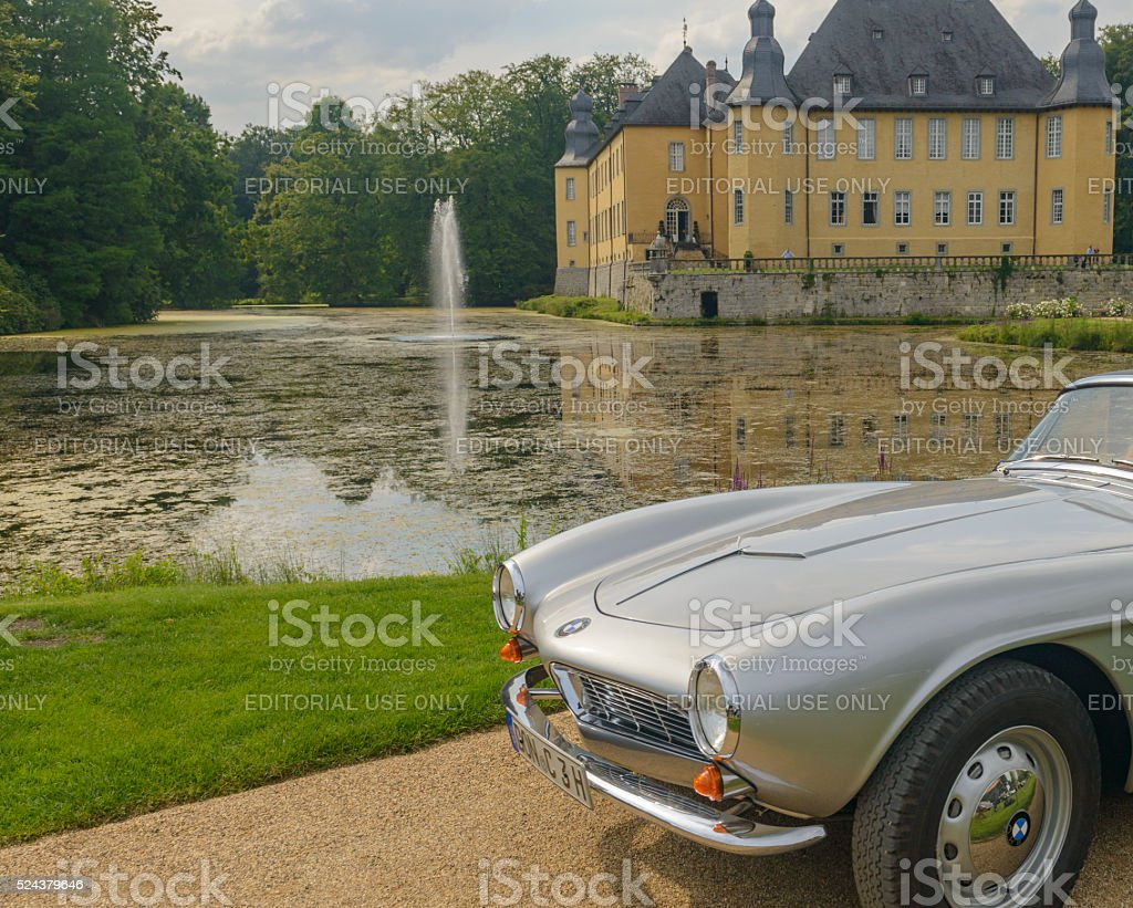 BMW 507 classic sports car front stock photo