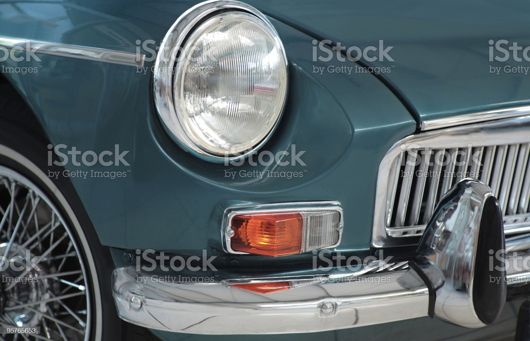 Classic Sports Car royalty-free stock photo