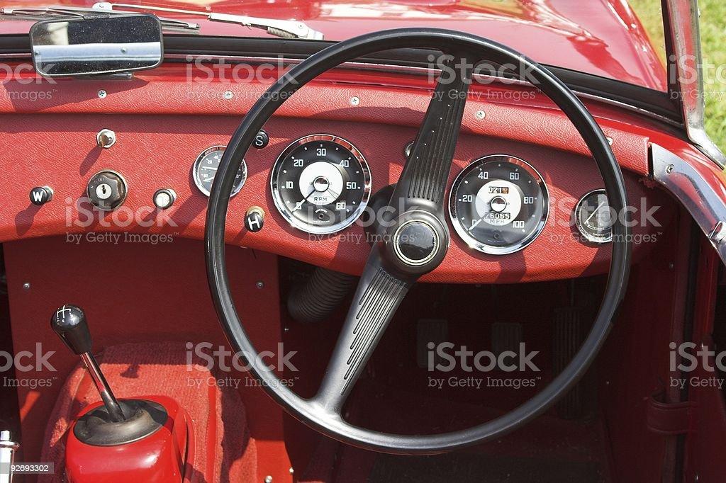 Classic Sportscar Dashboard royalty-free stock photo