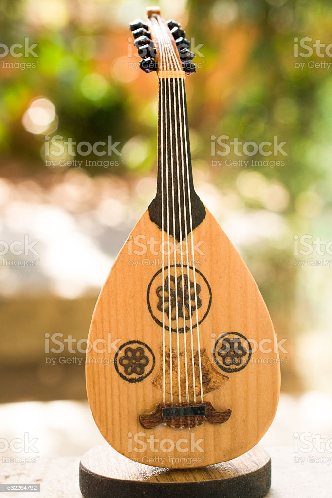 Classic stringed musical instrument Ud stock photo