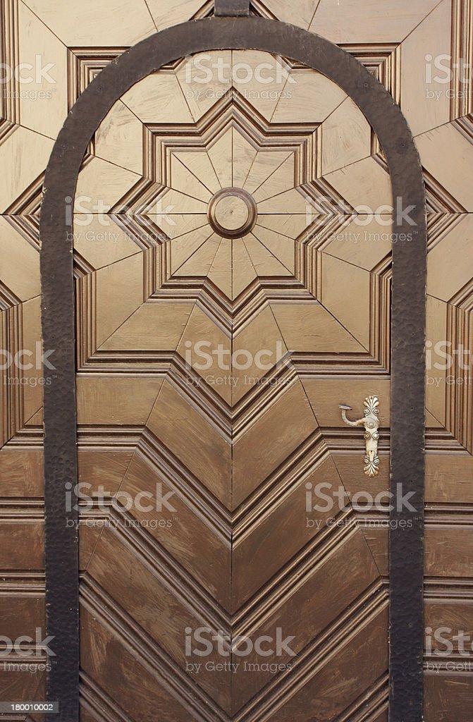 Classic style entrance door.More of doors in my portfolio. royalty-free stock photo