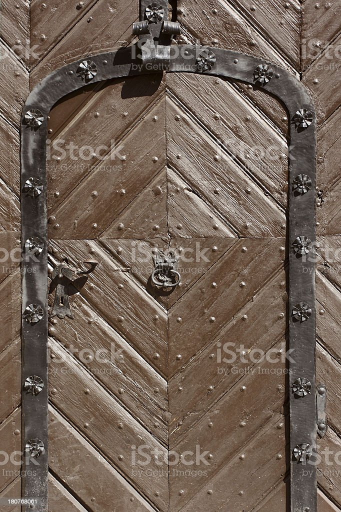 Classic style entrance door.More of doors in my portfolio. royalty-free stock photo