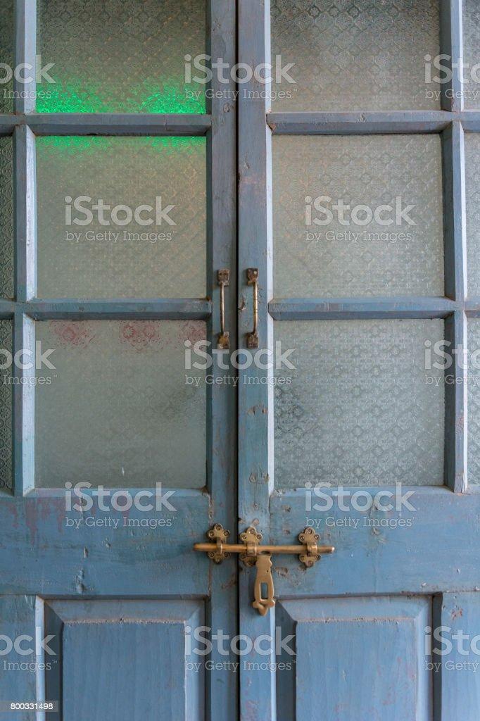 classic style glass antique door stock photo