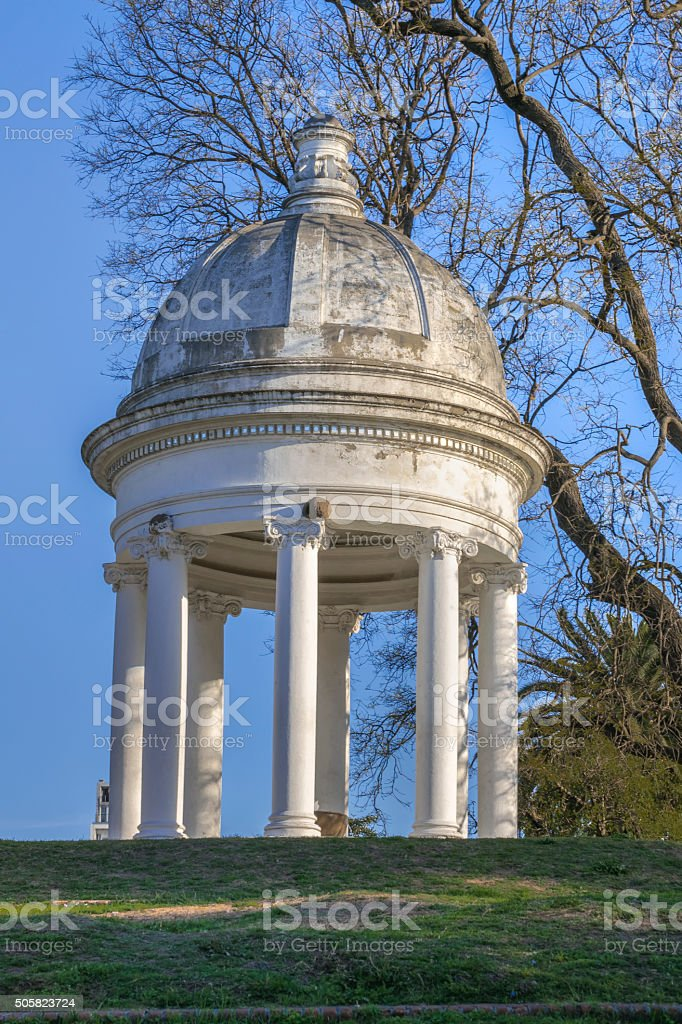 Classic Style Structure at Park in Montevideo Uruguay stock photo