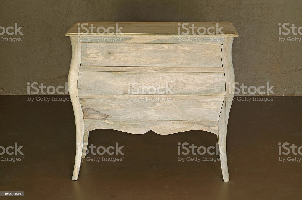 Classic style wooden dresser in off white royalty-free stock photo