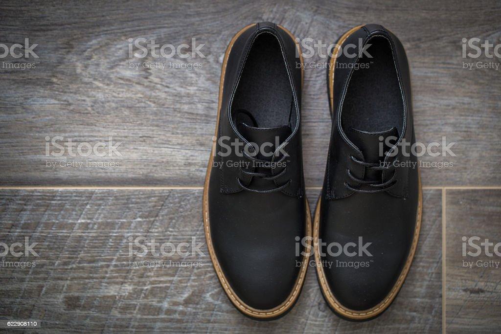 Classic stylish men's shoes stock photo