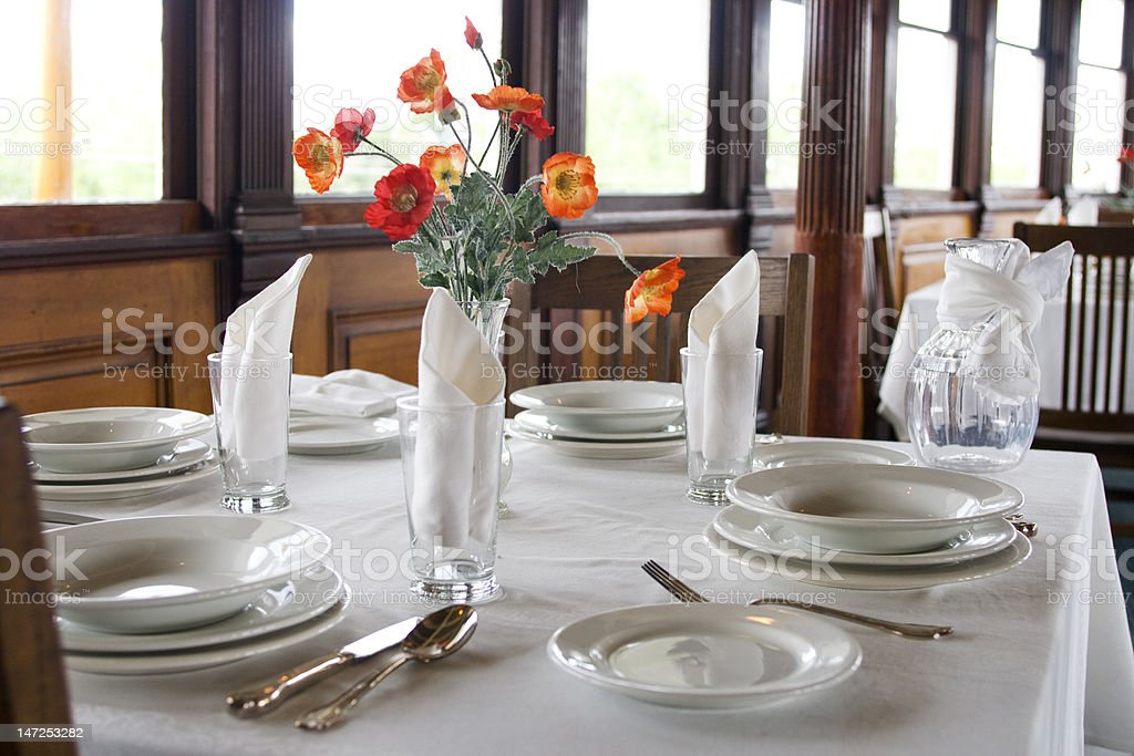 Classic tablesetting stock photo