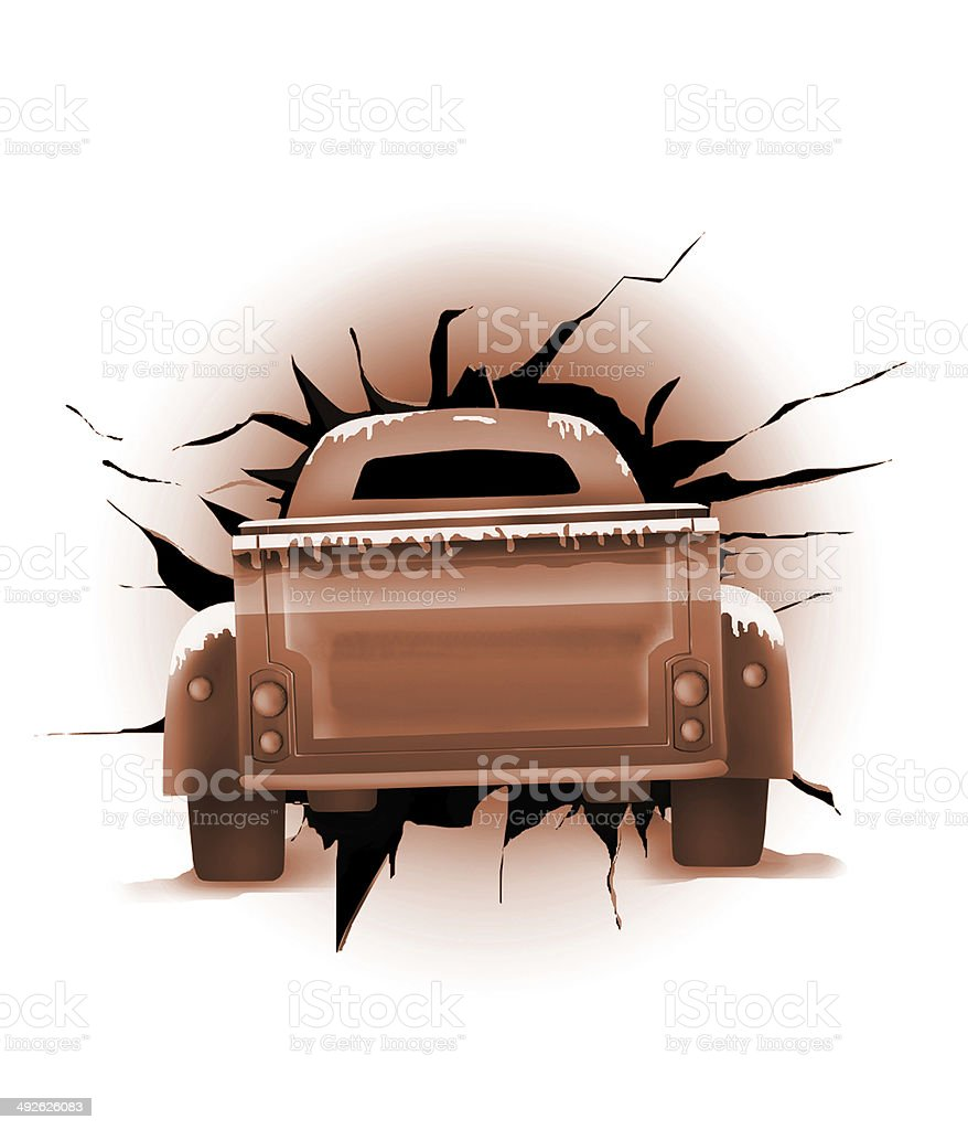 Classic trucks and background effects royalty-free stock photo