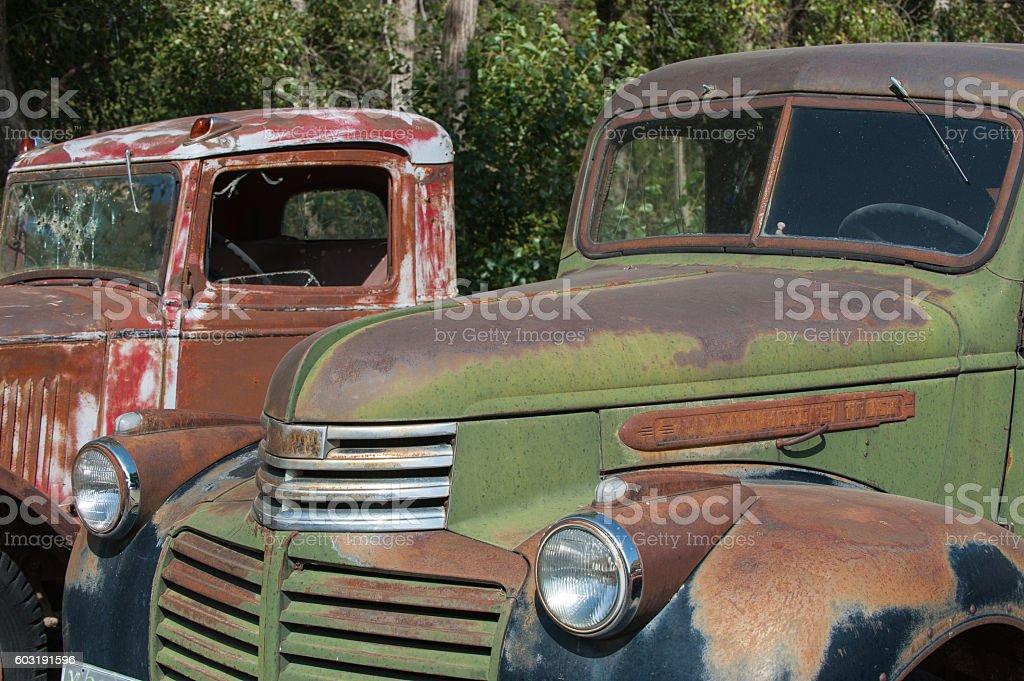 Classic Trucks stock photo