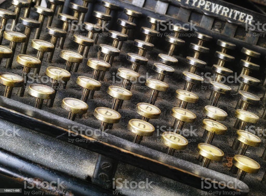 Classic typing royalty-free stock photo
