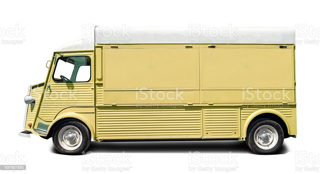 Classic van stock photo