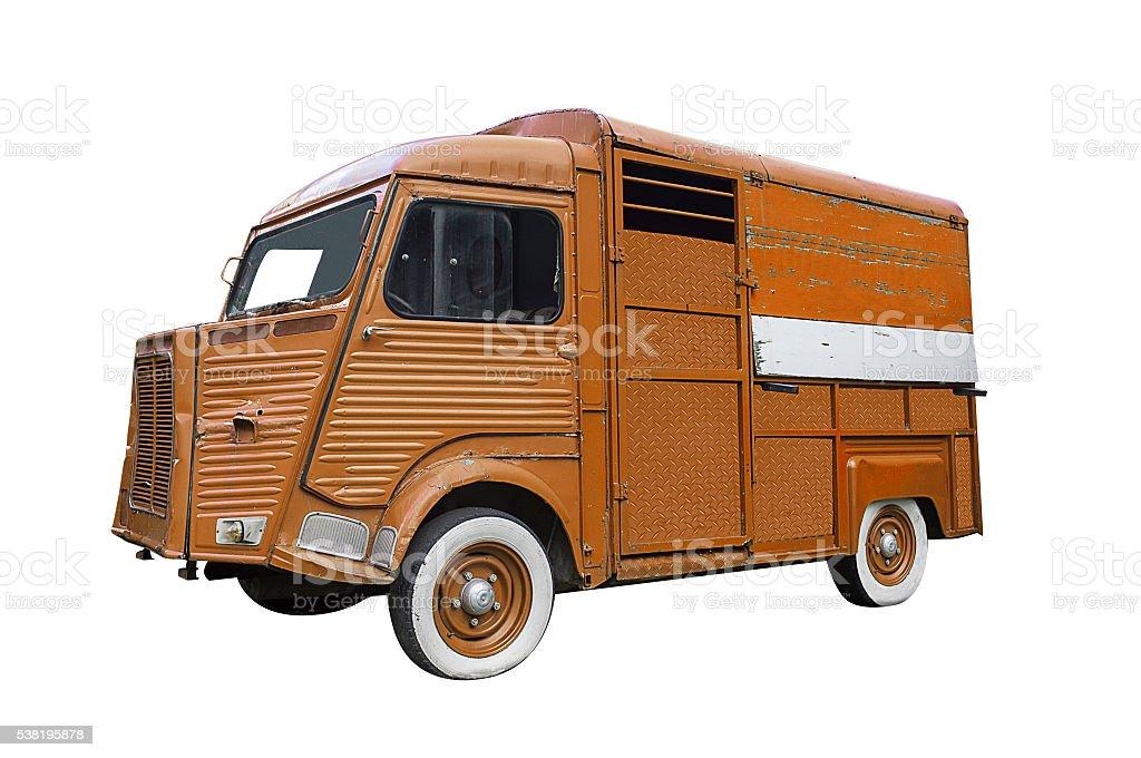 Classic van stock photo