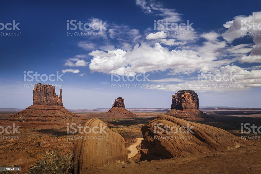 Classic View of Monument Valley and American West. royalty-free stock photo