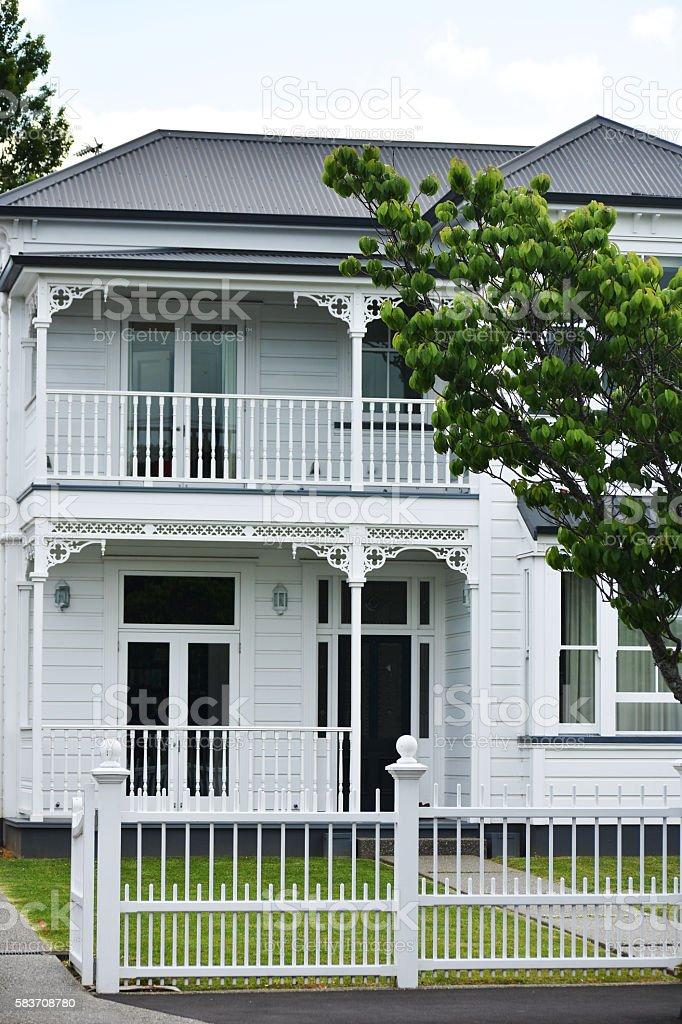 Classic villa stock photo
