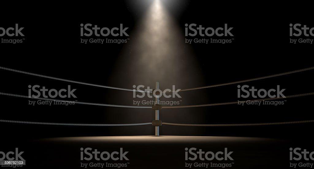 Classic Vintage Boxing Ring Corner stock photo