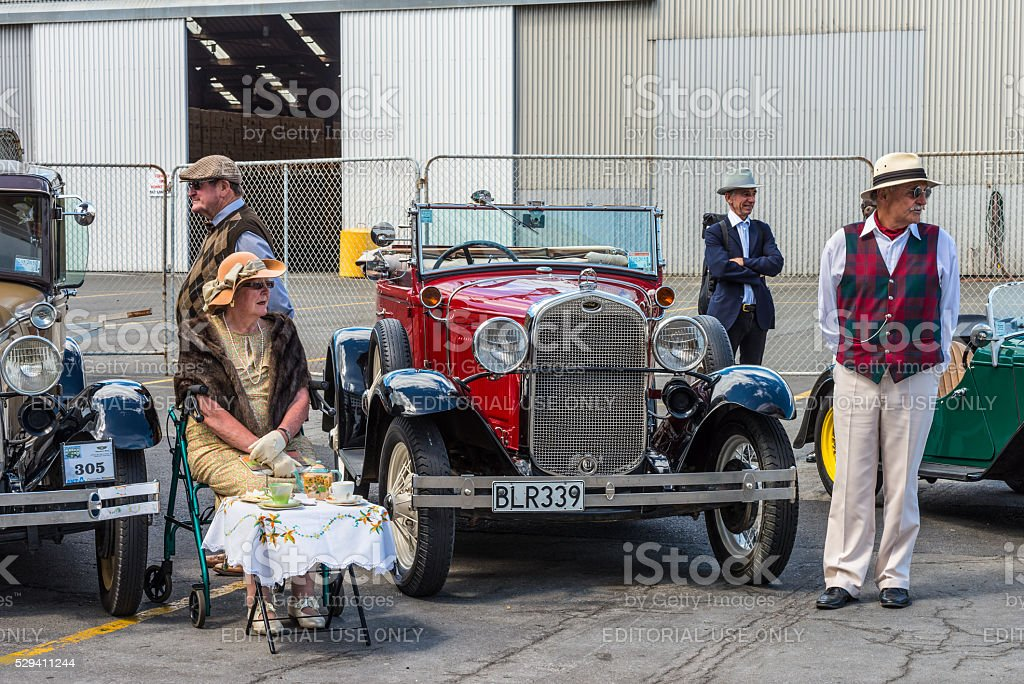 Classic vintage Ford motor car Art Deco weekend Napier North stock photo