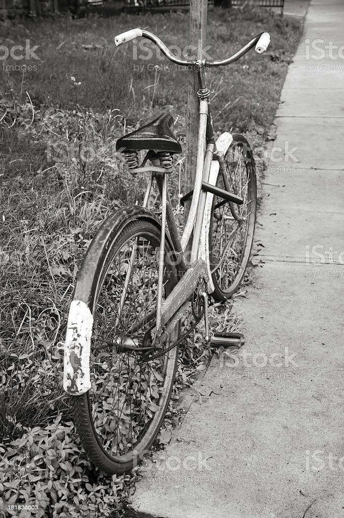 Classic vintage retro city bicycle royalty-free stock photo