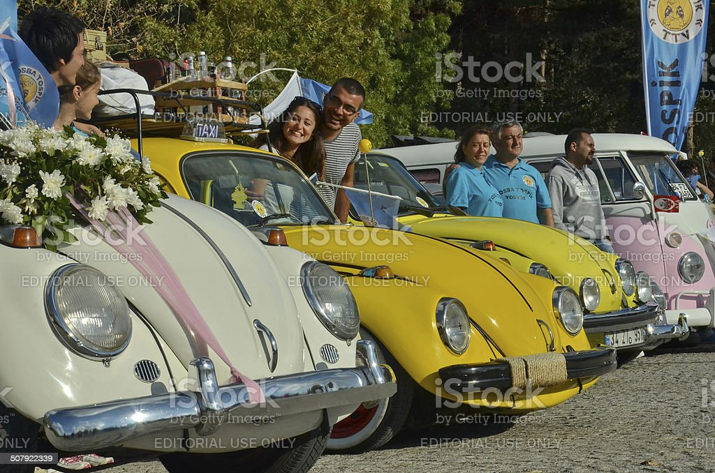 Classic Volkswagen Beetle car stock photo