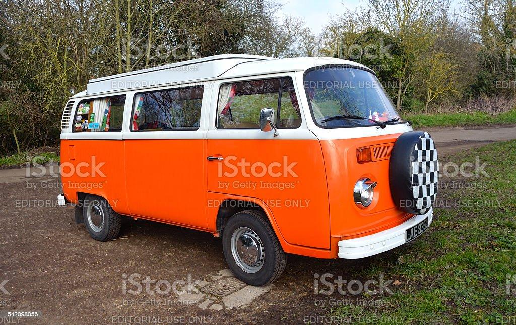 Classic Volkswagen Camper stock photo
