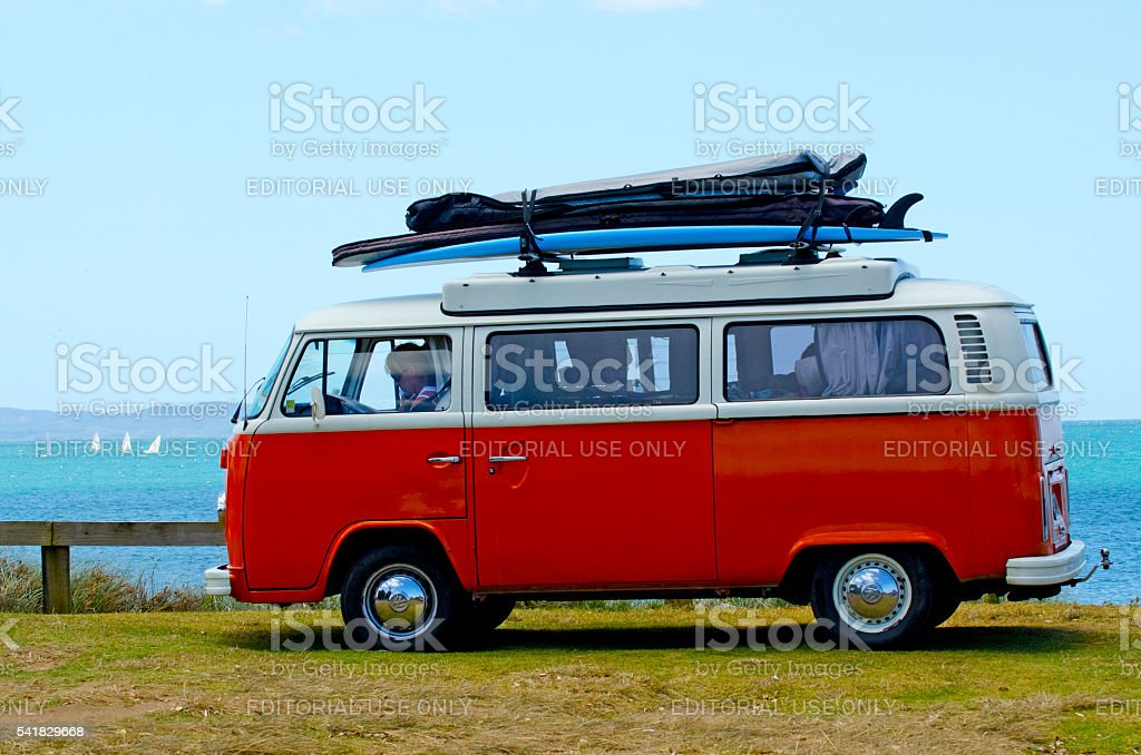 Classic Volkswagen Kombi Van stock photo