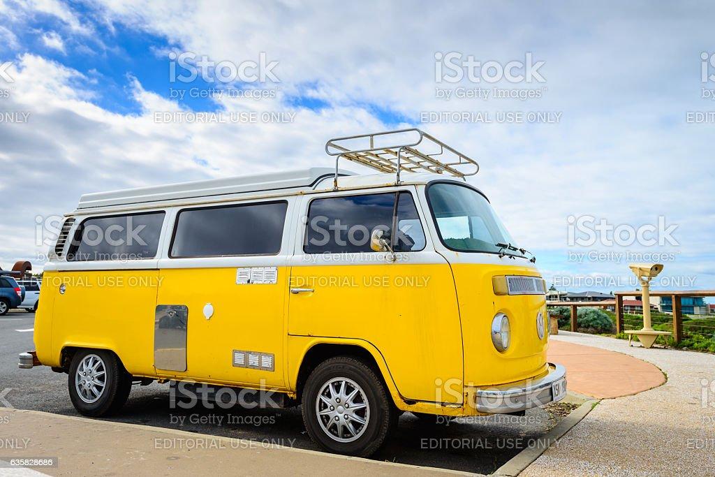 Classic Volkswagen Transporter camper van stock photo