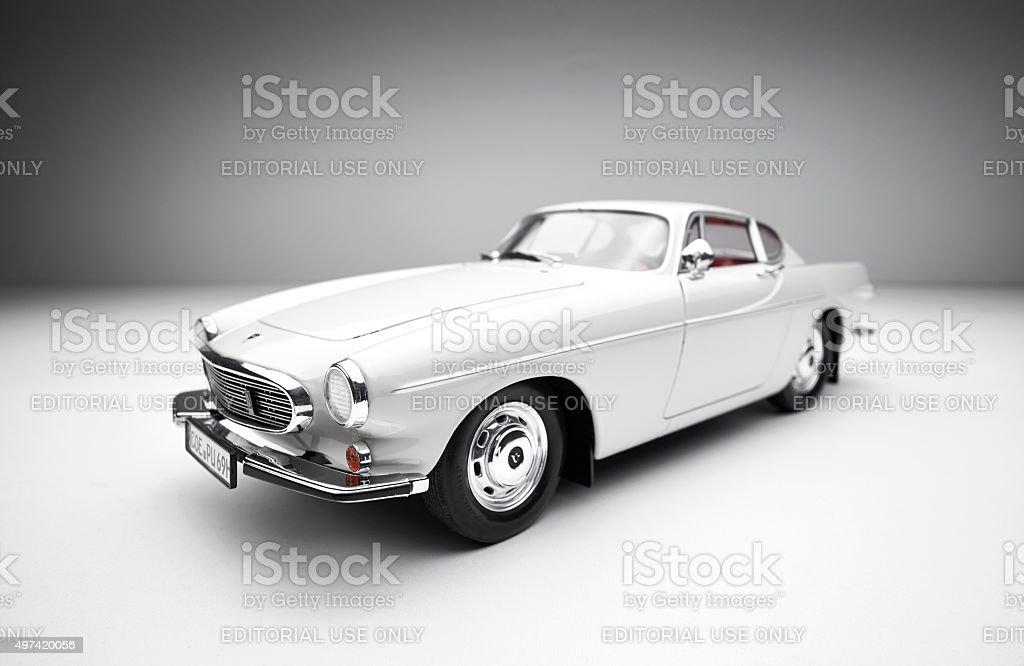Classic Volvo 1800S Model Car stock photo