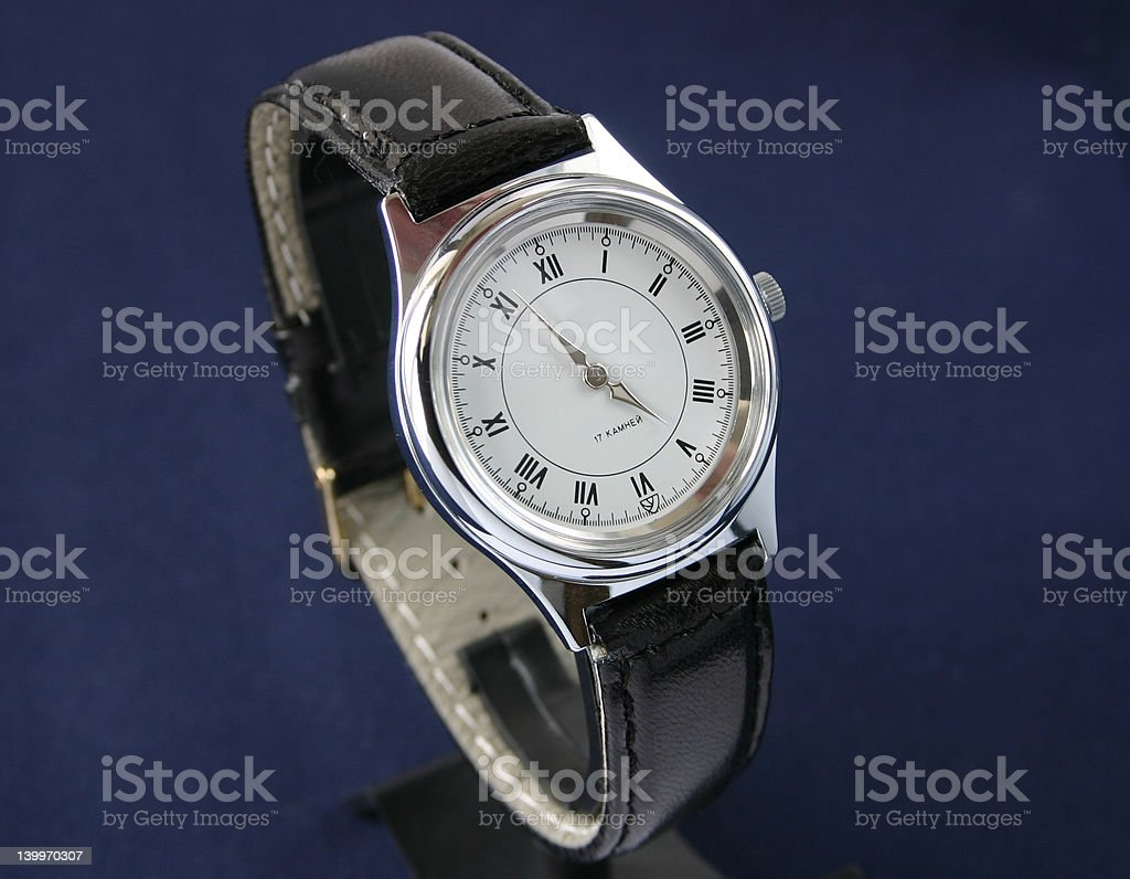 Classic watch stock photo