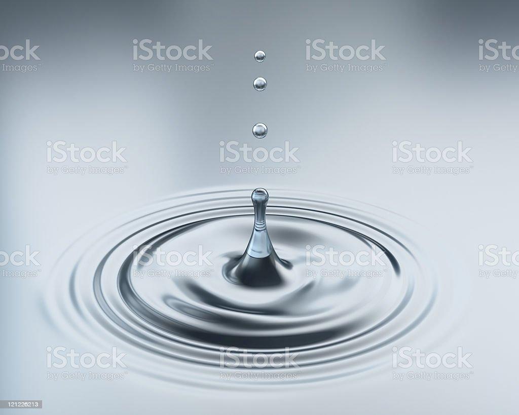 Classic water splash. XXXL size royalty-free stock photo