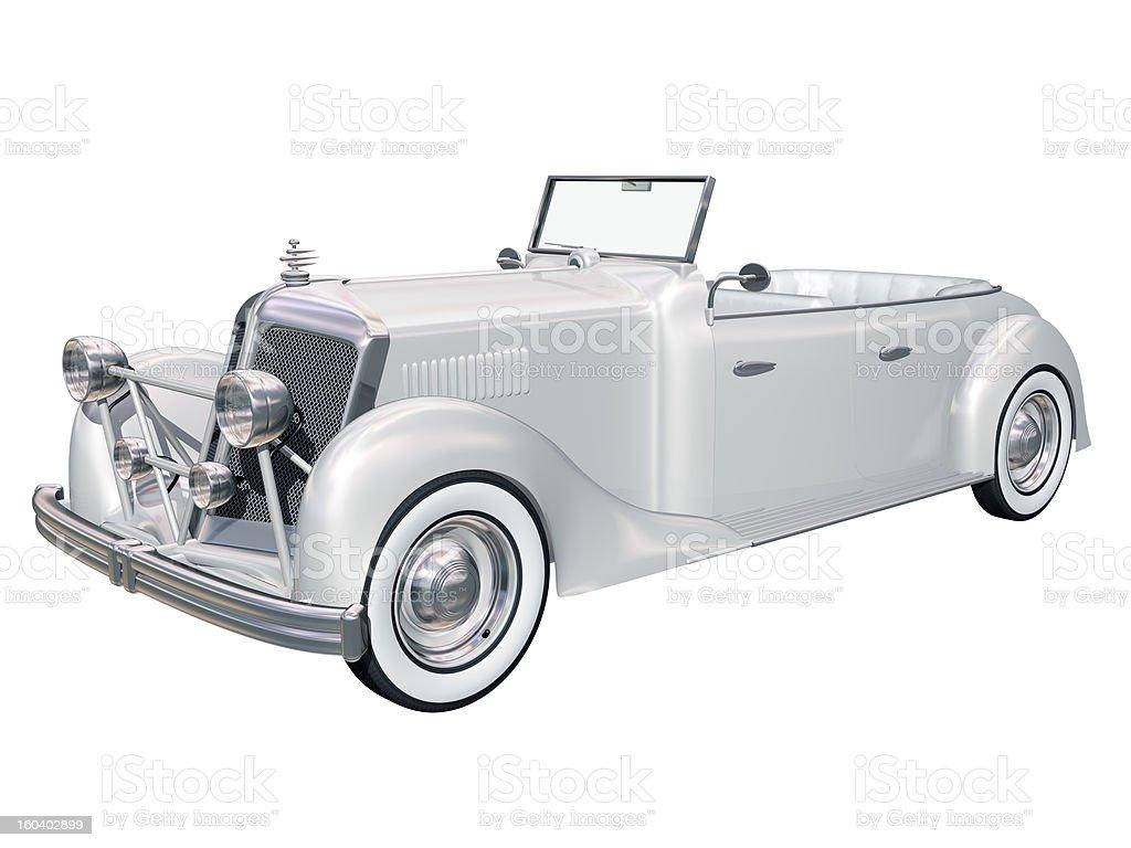 Classic wedding car royalty-free stock photo