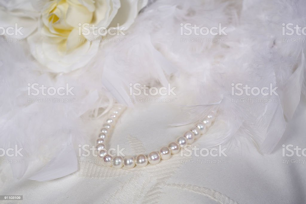 Classic wedding pearls royalty-free stock photo