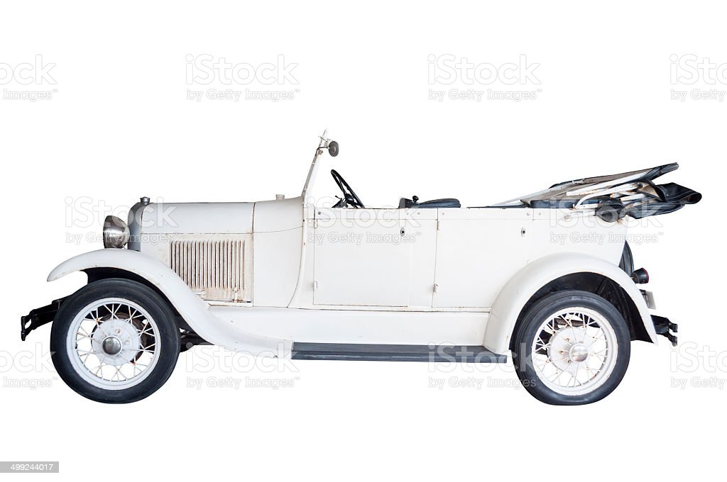 Classic white car royalty-free stock photo