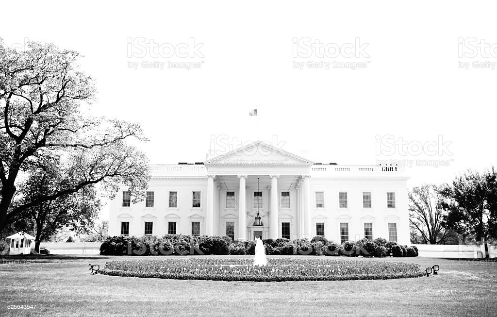 Classic White House stock photo