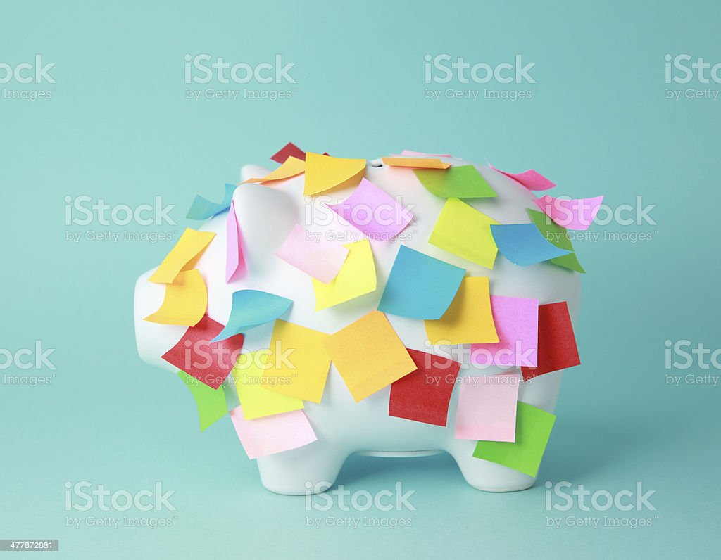 Classic white Piggy Bank royalty-free stock photo