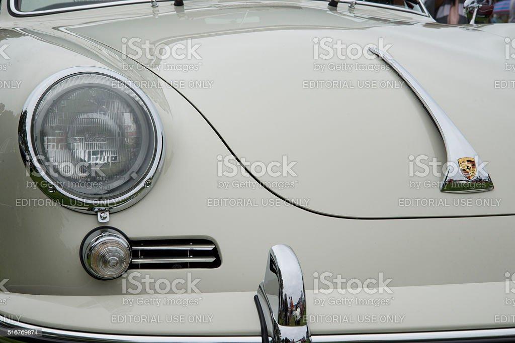 Classic White Porsche 356 Front End stock photo