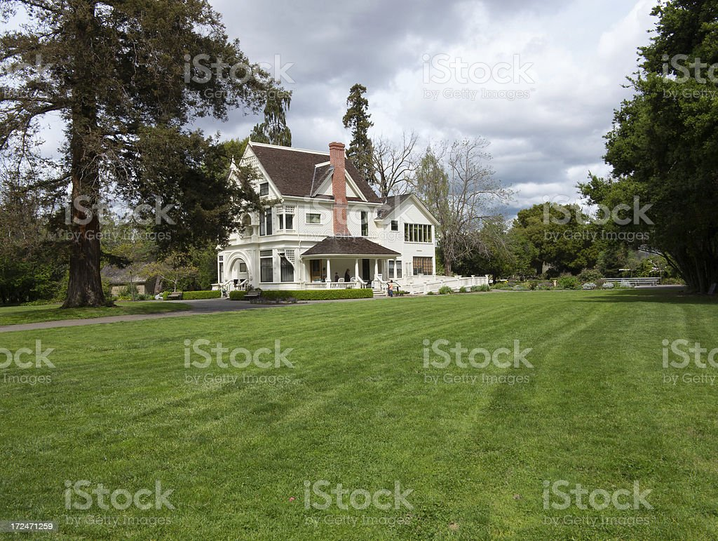 Classic white Victorian Mansion royalty-free stock photo