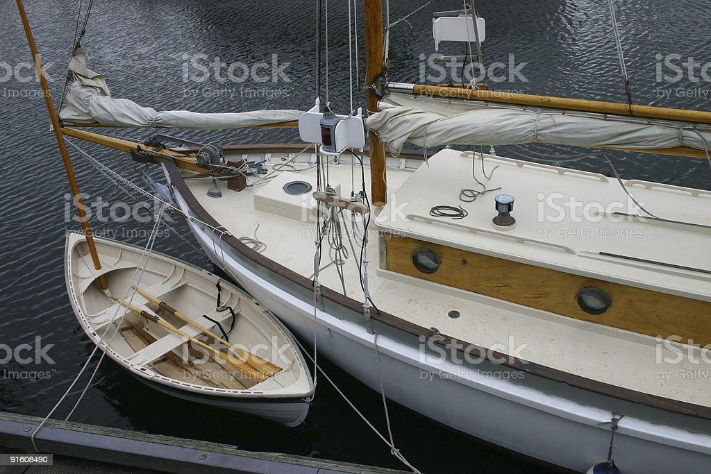 Classic Wood Sailboat III royalty-free stock photo