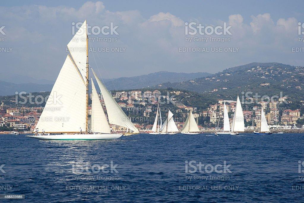 Classic yacht regatta royalty-free stock photo