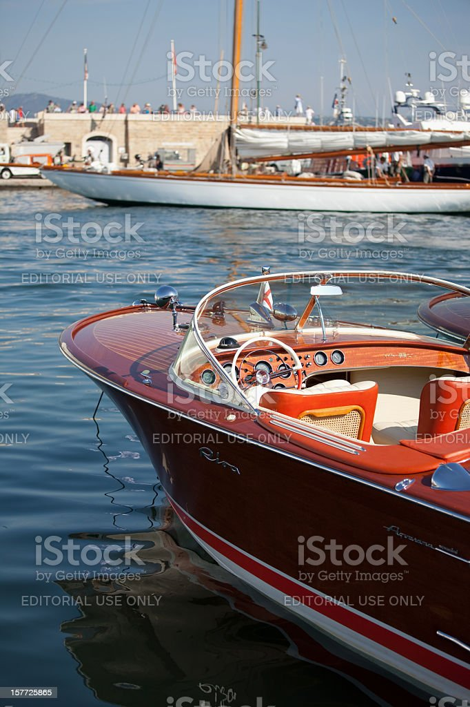 Classic yachts stock photo