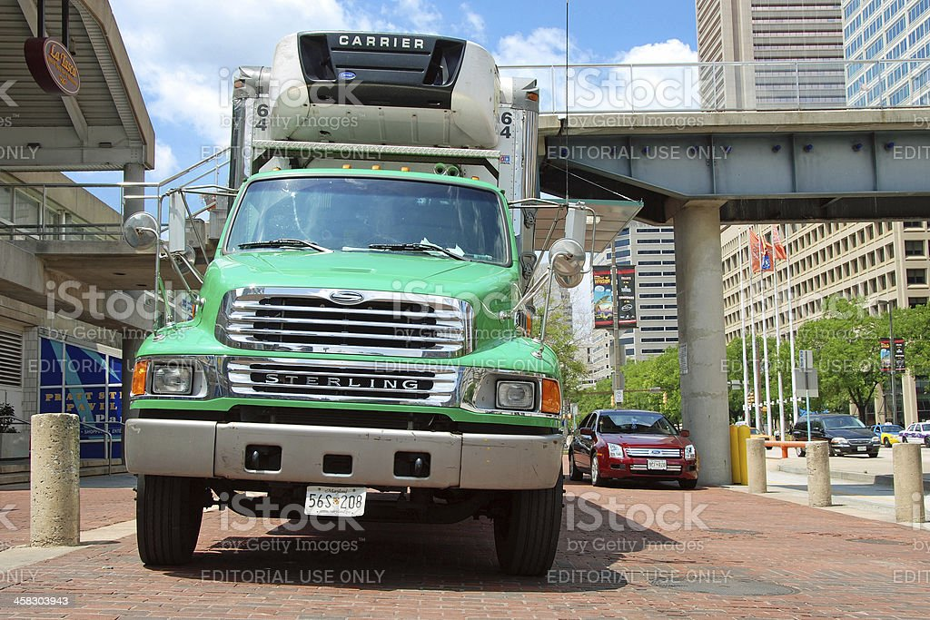 Classical american big modern truck royalty-free stock photo