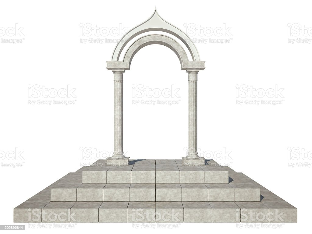 Classical arch stock photo