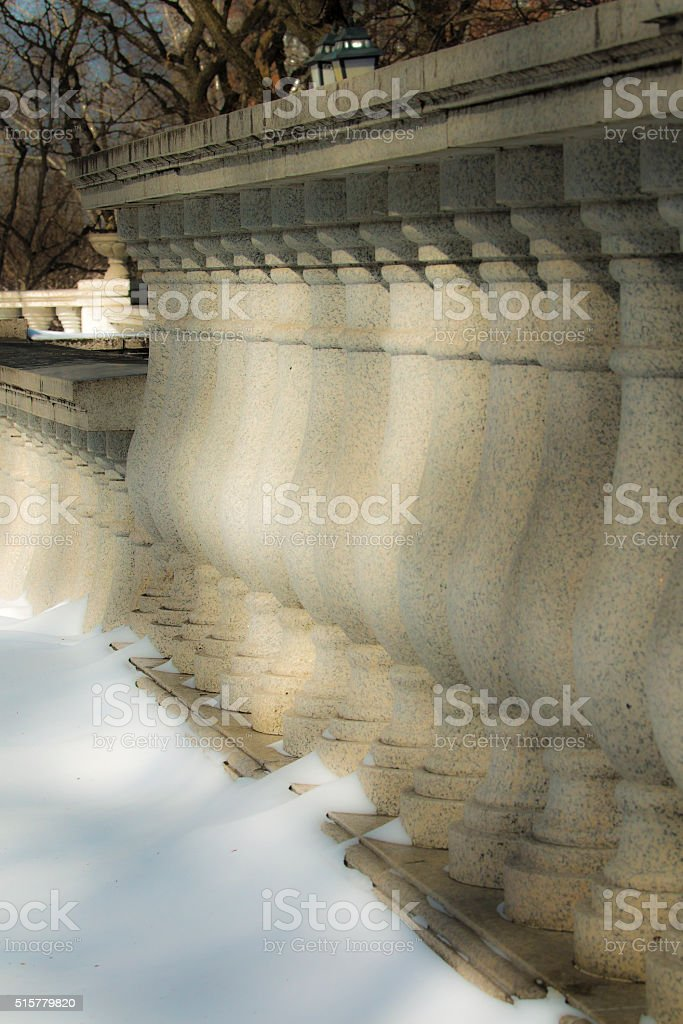 Classical architectural baluster stock photo