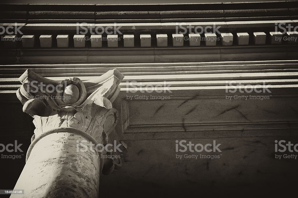 Classical Architectural Column stock photo