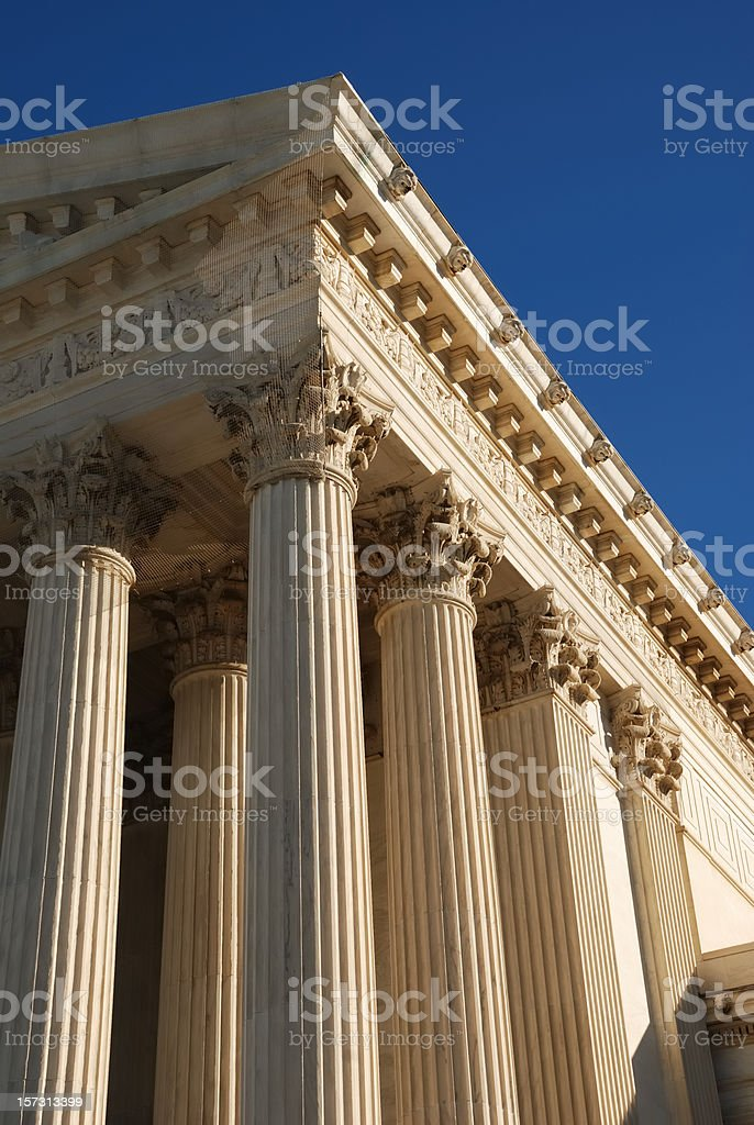 Classical architectural columns royalty-free stock photo
