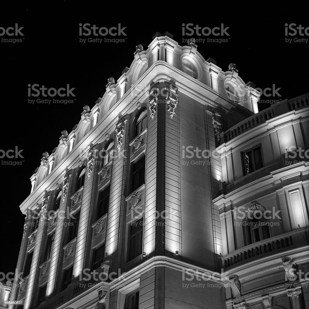Classical architectural detail stock photo