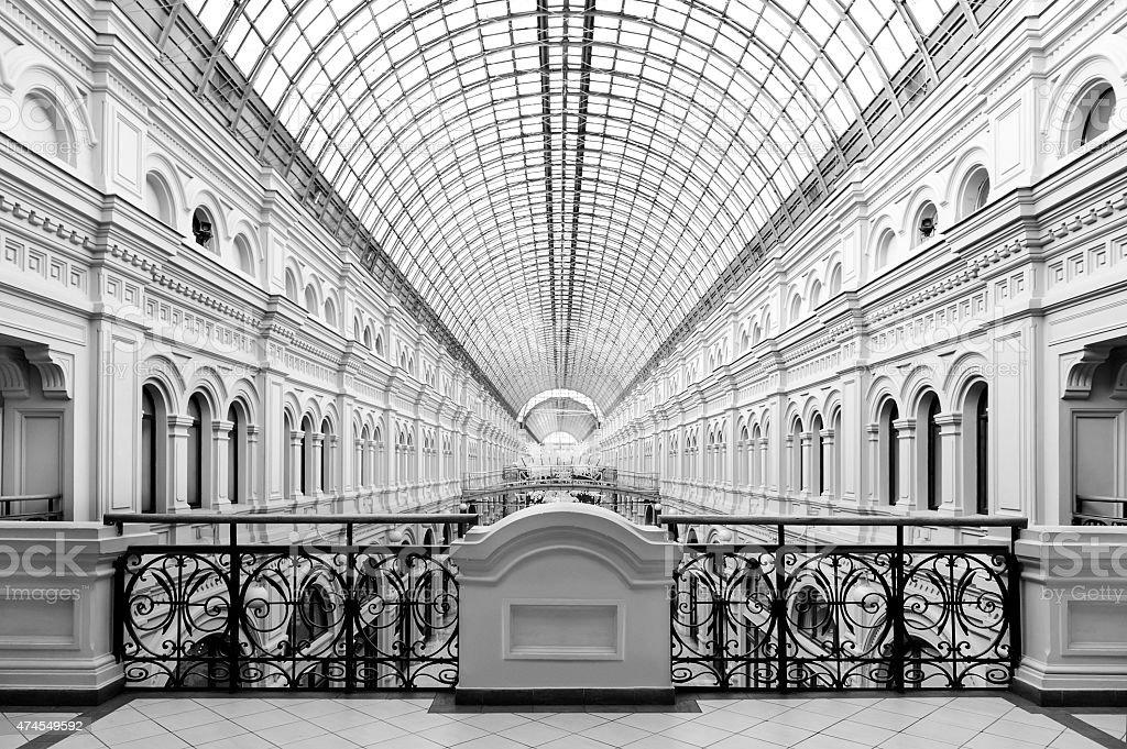 Classical architectural interior stock photo