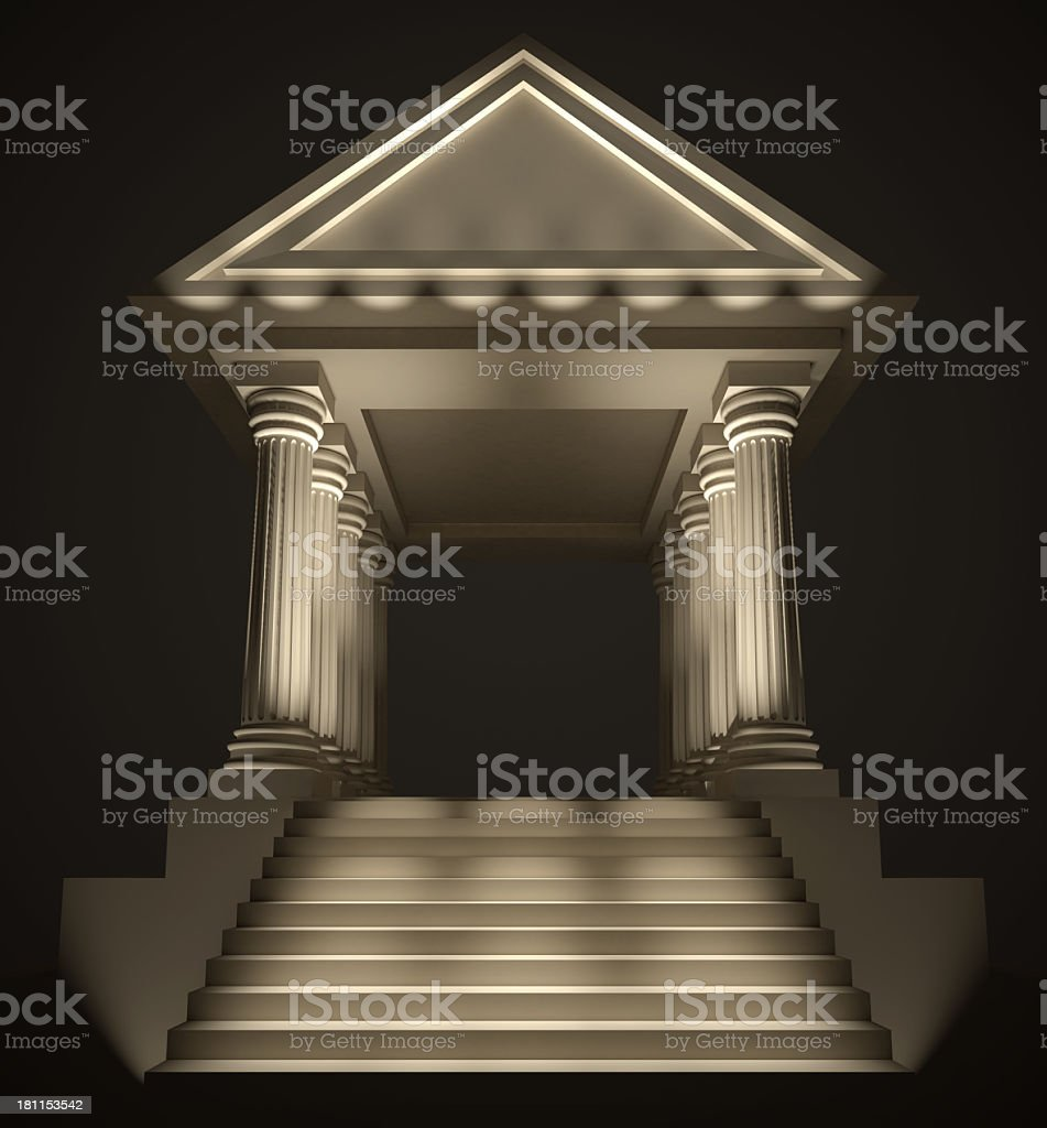 Classical architecture building stock photo
