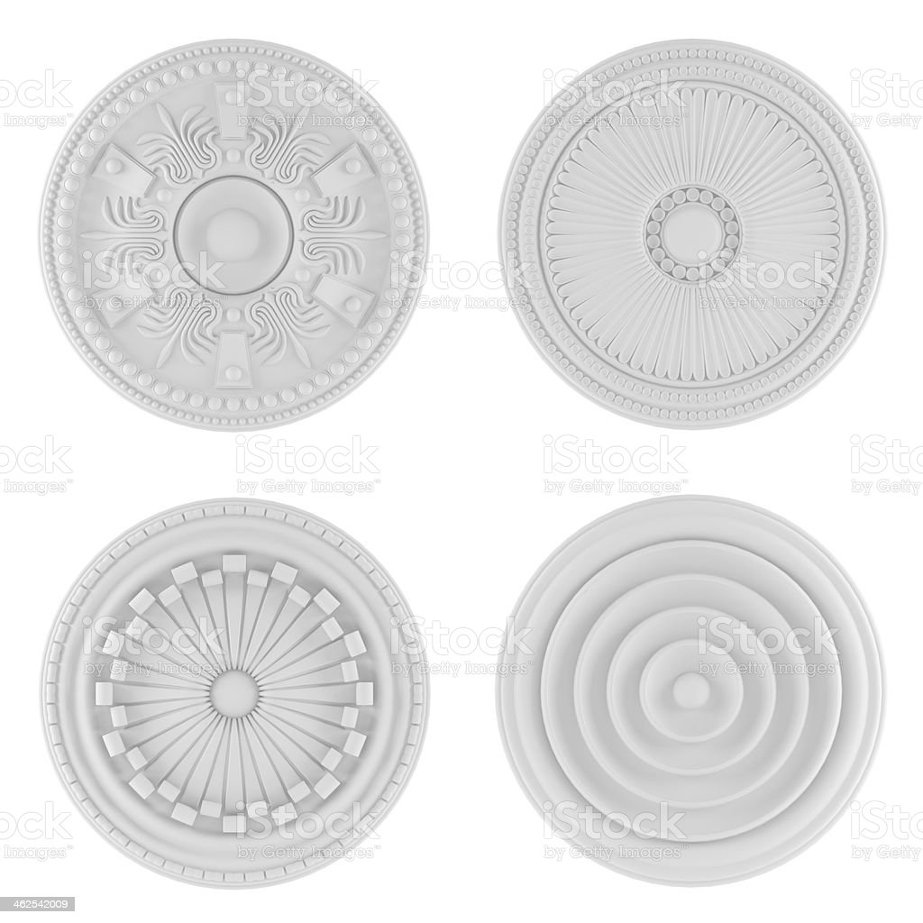 Classical architecture elements. Ceiling plates royalty-free stock photo