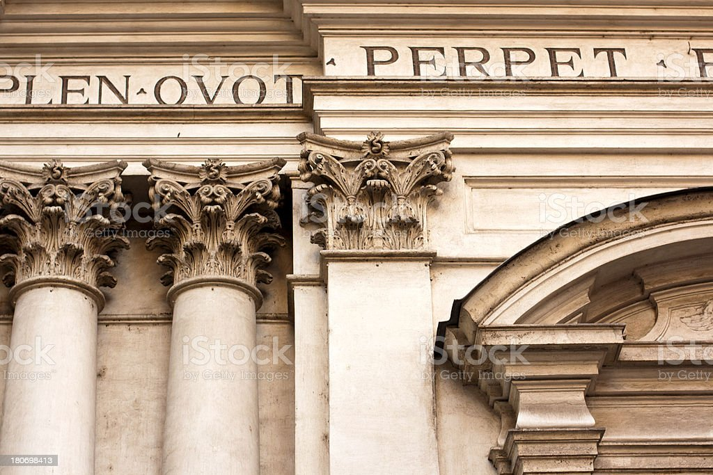 Classical architecture, Rome royalty-free stock photo